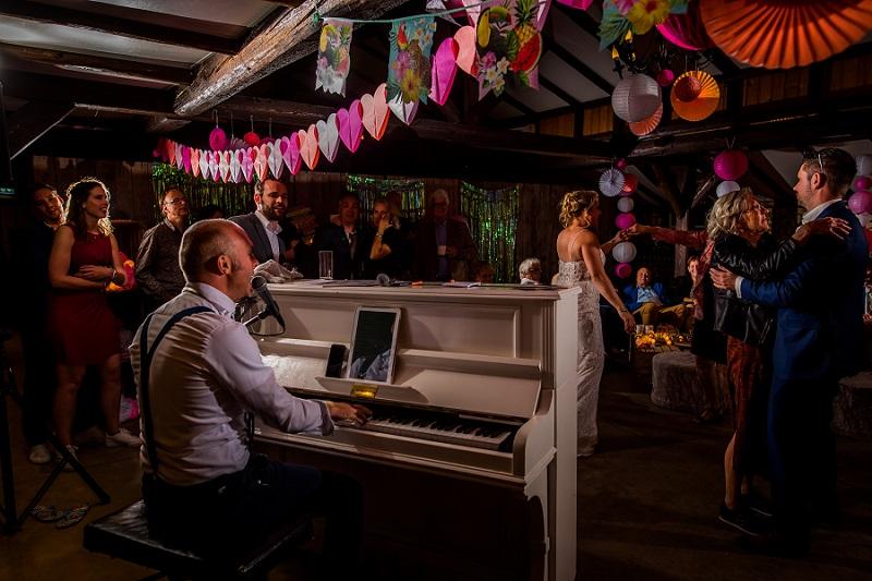 trouwfeest met piano